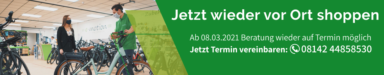 e-motion e-Bike Welt Muenchen West Telefon Buchung Termin