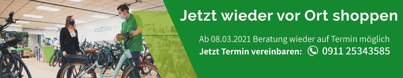 e-motion e-Bike Shop Nürnberg-West Termin Beratung Telefon