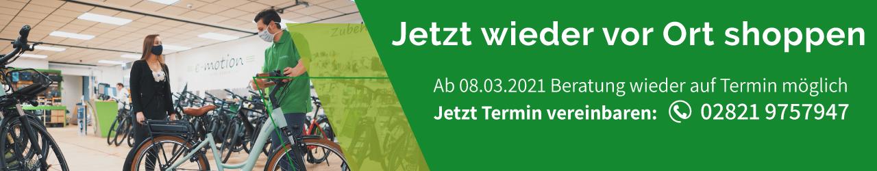 e-motion e-bike Welt Kleve Telefon Termin