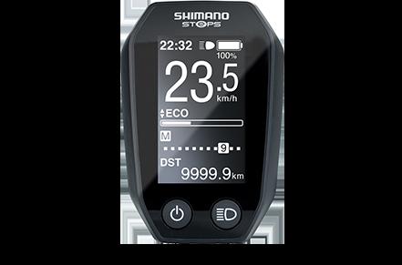 Die Bedienungseinheit, also das e-Bike-Display, für den Shimano e-Bike-Antrieb E6000 hat ein kontrastreiches Display und steuert alle Funktionen des Pedelecs.