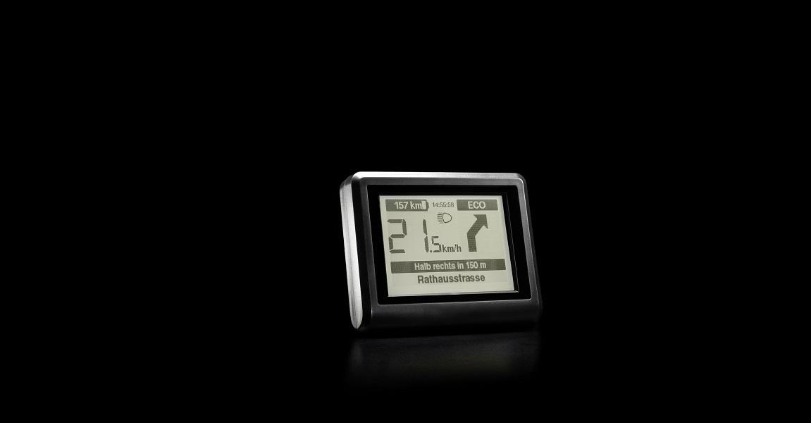 """Das e-Bike Display Impulse Evo RS wurde für den Einsatz in Trekking e-Bikes und e-Mountainbikes entwickelt und verfügt über die zusätzliche Unterstützungsstufe """"Ultra""""."""