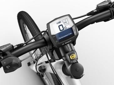 Eine Kontrollleuchte zeigt dem Fahrer an, wann das e-Bike ABS einsatzbereit ist.