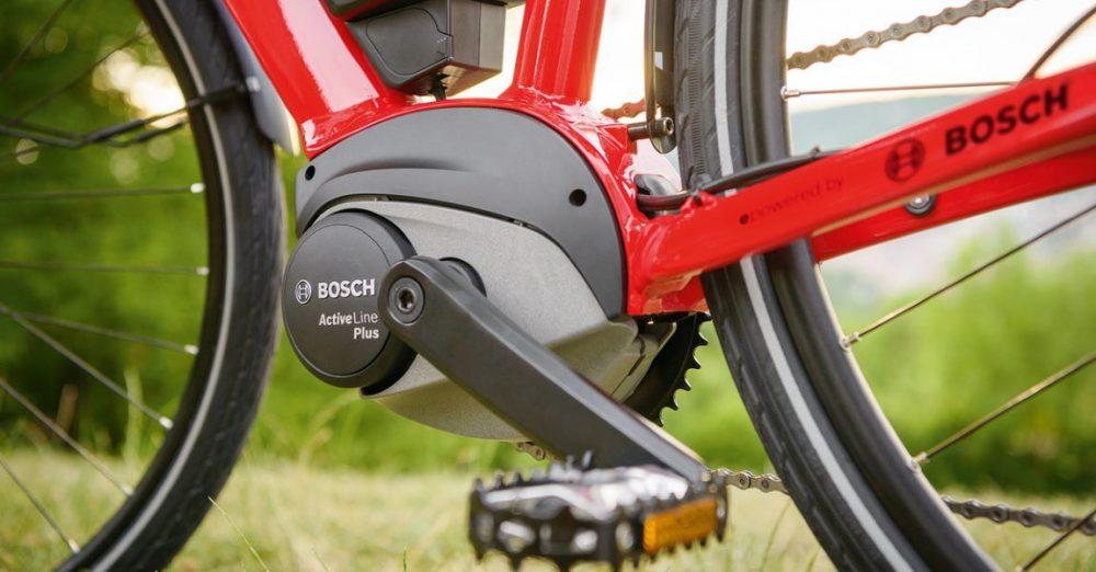 Dar Bosch Active Line Plus ist der Nachfolger des Active Cruise, allerdings ist er leiser und lässt sich komplett ohne Tretwiderstand fahren, in das Designs der e-Bikes passt sich der Motor optimal ein - wie auf diesem Bild.
