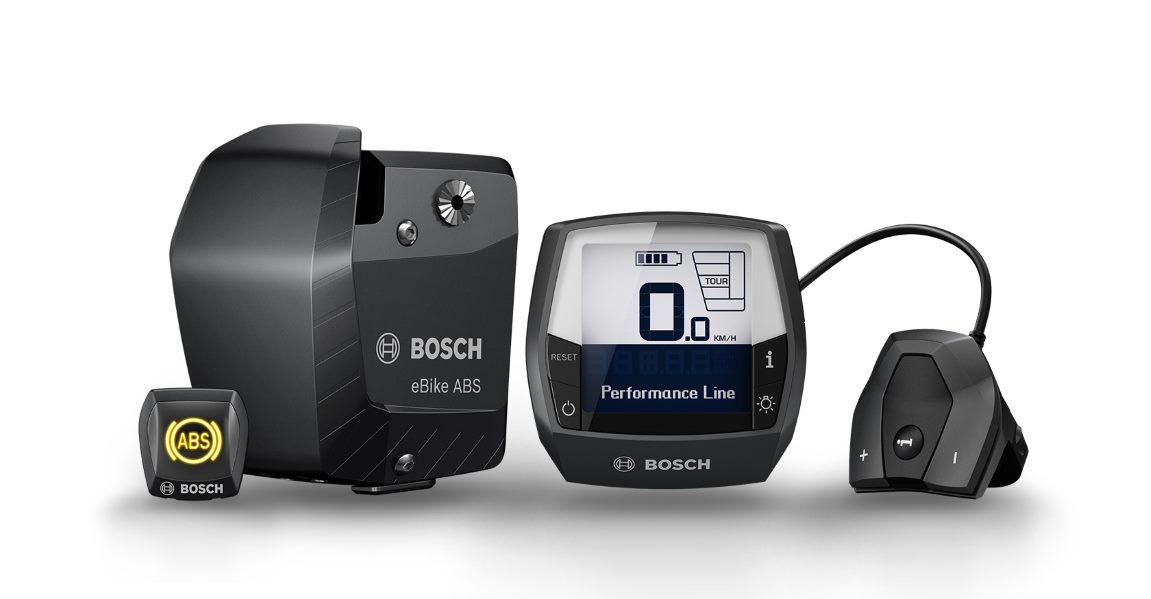 Das Bosch e-Bike ABS verhindert ein Blockieren des Vorderrads und ein Abheben des Hinterrads vom Boden, so werden Überschläge mit dem Pedelec verhindert.