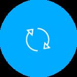 Software-Updates können in der Shimano e-Tube App im Hauptmenü über den Button mit zwei Pfeilen erreicht werden.