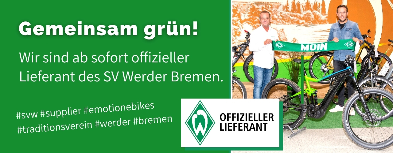 e-motion e-Bike Welt Bremen offizieller Partner SV Werder Bremen