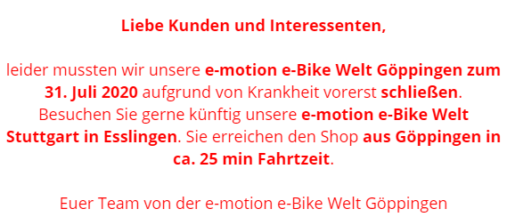 e-motion e-Bike Welt Göppingen
