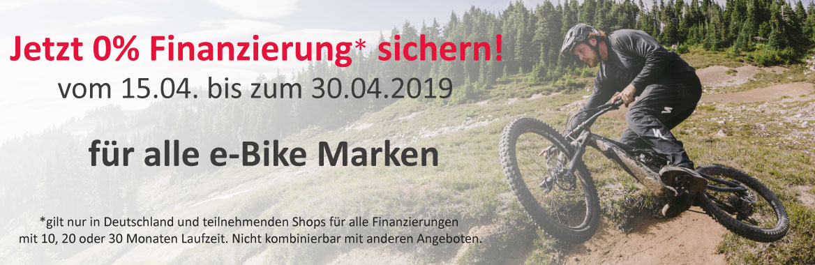 e-motion e-Bike Online-Shop 0% Finanzierung