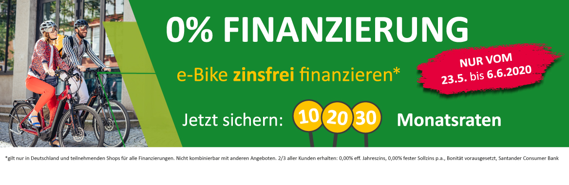 e-Bike 0% Finanzierung Moers