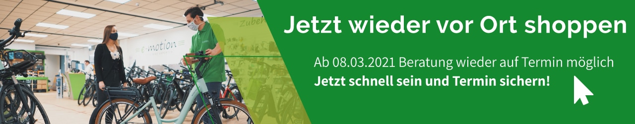 e-motion e-Bike Welt Pforzheim Beratungstermin buchen
