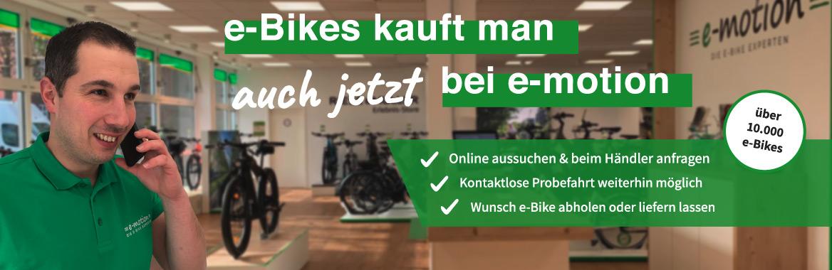 e-Bikes kauft man auch jetzt bei e-motion